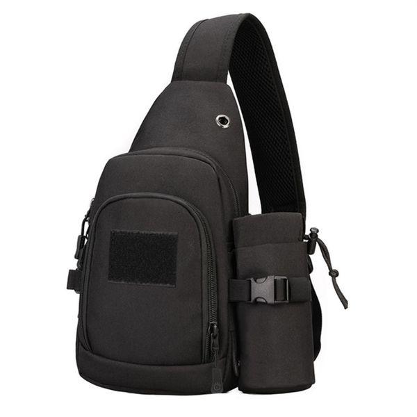 Hiking Single Shoulder Molle Daypack Travel Outdoor Backpack Trekking Chest Pack Anti-tear Military Bag Nylon Sport #743921