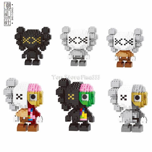 KAWS Diamond Figure Blocks KAWS Model Building Toys 6 modelos pueden ser elegidos DIY Kdis juguetes 38012-38017