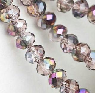 500pcs/LOT PINK AB HALF PURPLE Quality Faceted 4 SIZES #5040 RONDELLE Wheel glass crystal beads DIY JEWELRY MAKING