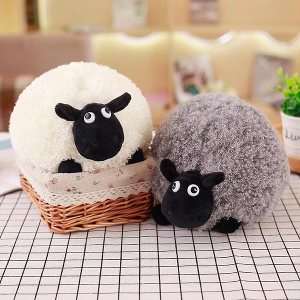 25 cm 35 cm koyun peluş oyuncak dekorasyon yaratıcı karikatür sevimli koyun dolması bebek hayvan süsler doğum günü hediyeleri oyuncaklar çocuklar için