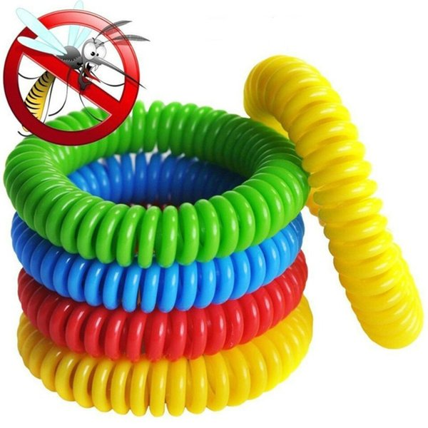 Mosquito Repellent Bracelet Stretchable Elastic Coil EVA Spiral Hand Wrist Band Telephone Ring Anti-mosquito Bracelet ECO Friendly DHL A5905