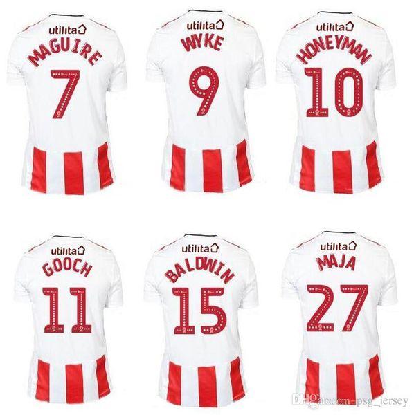 Yeni 19 20 S-XXL En kaliteli Sunderland Futbol Forması GRABBAN BORINI Futbol Gömlek 19/20 Satışta Maillot De Ayak Üniformaları