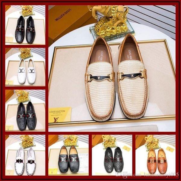High Grade Hommes Véritable Chaussures en cuir à la main Mocassins à enfiler robe italienne Homme Chaussures Grande Taille 38-45