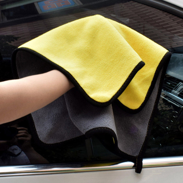 Car Care Car Limpeza Toalha Hemming Microfibra Coral Veludo 30 * 30 cm Pano de Dupla Face de Alta Densidade 1 pc Nova Limpeza Absorvente