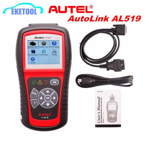 Genuine Autel AutoLink AL519 OBD EOBD Diagnostic Scanner Upgrade Online Multi-Language Code Reader Tool