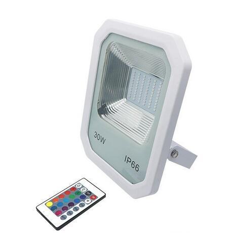 LEVOU Projetor Holofote Ao Ar Livre de Alumínio 30 W 50 W 100 W SMD 2835 LED Luz de Inundação À Prova D 'Água IP66 RGB Branco branco Quente