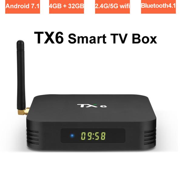 4G 32G Android 9.0 TV Box Allwinner H6 Quad Core Dual Band Wifi 2.4G/5G Bluetooth Media Player 4K Ultra HD Set Top Boxes 4GB RAM 32GB TVbox
