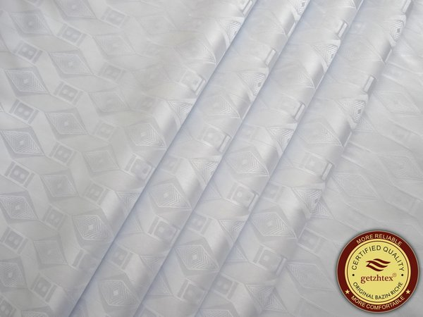best selling High Quality White Bazin Riche,Germany Quality 10 Yards bag Guinea Brocade Garment Fabric 100% Cotton With Perfume Shadda