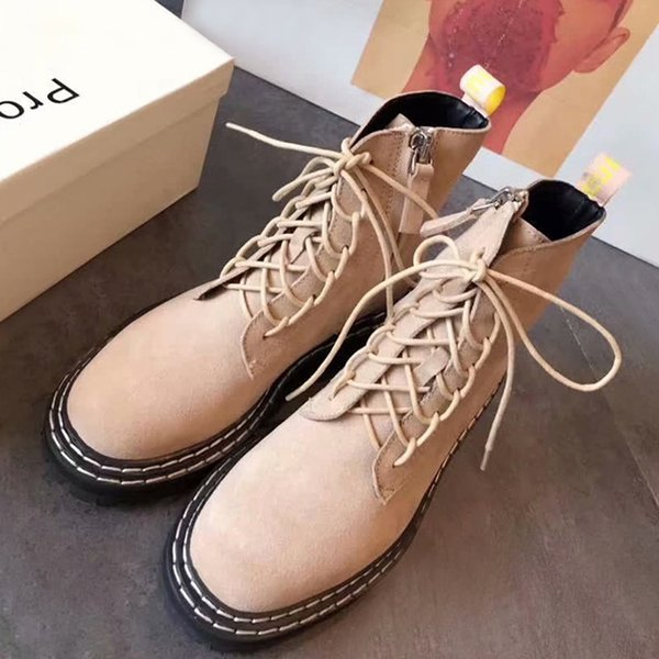 Leisureproenz Martin Boots NewProenzaAutumn Short Boots Women Winter Plus Velvet Luxury Wild Net Red Motorcycle Slim Boots Classic