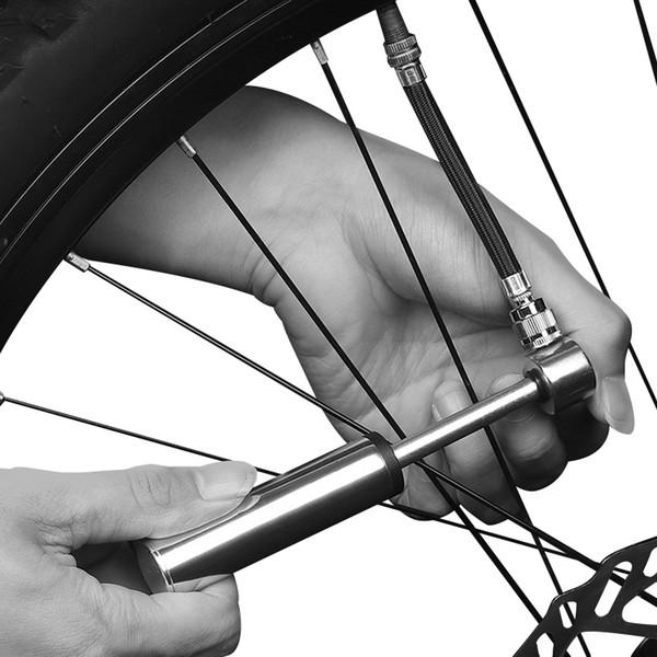 120 Psi Mini Portable Pump Lightweight MTB Road Bike Hand Pumps Fit Presta/Schrader Valve Aluminum Alloy Anti-Slip Air Inflator #358215