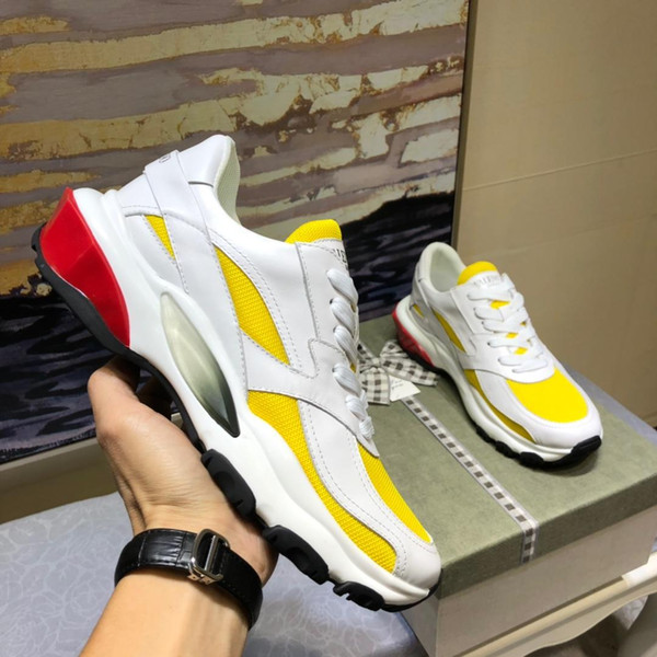 2019 lüks tasarımcı rahat erkek ayakkabı, moda açık erkek spor ayakkabı, orijinal ambalaj ayakkabı kutusu teslim, yarda: 38-45