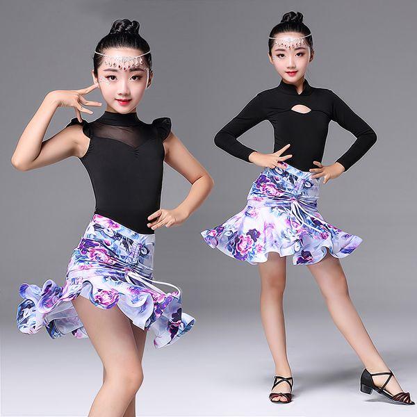 Skirt Set Practice Perform Costume Lady Ballroom Flamenco Dance Blouse Tops