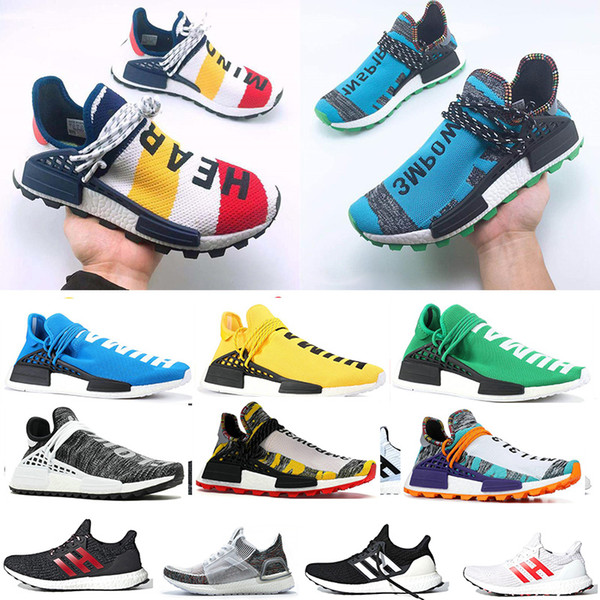 best service cec1d b28df 2019 nmd human race 2 0 3 0 running hoe pharrell william core black yellow  men trainer women de igner port neaker ize 36 47