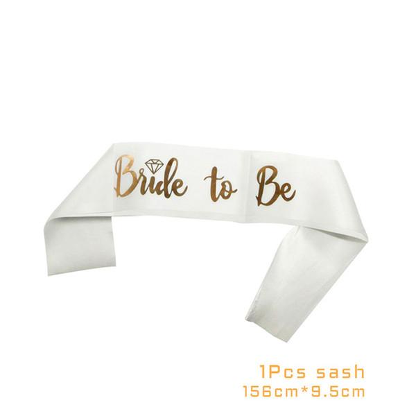 1pcs white ribbon