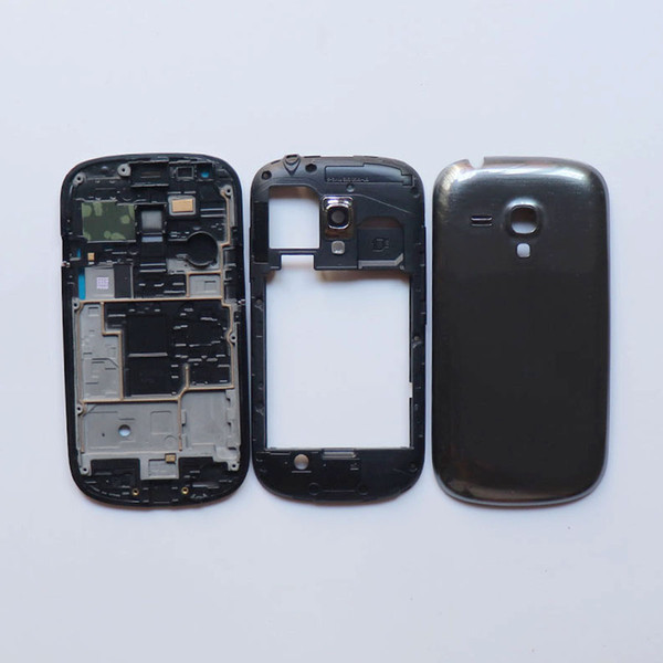 For Samsung Galaxy S3 mini GT-i8190 i8190 full housing Front Panel +Middle Frame+Battery Cover door Repair Parts White Gray Blue