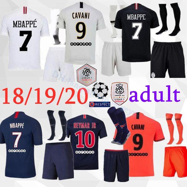 Kit maglia calcio psg 2018 2019 2020 maglie Paris Paris MBAPPE set calzini 18 19 20 uniforme kit maglia calcio uomo psg