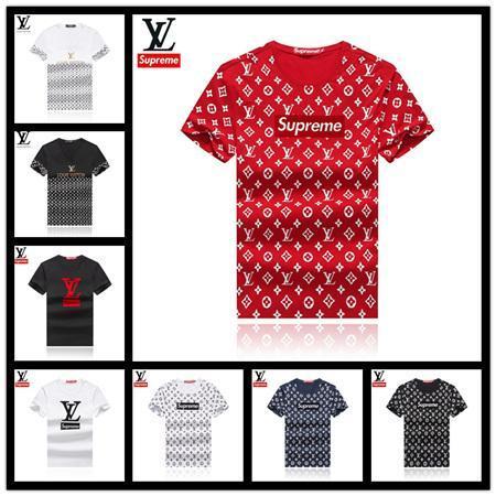 Roupas de luxo Verão Básico camiseta com Decote Em V Sada Algodão Casuais de manga Curta Branco Preto Cinza Elegante Casual Ginásio Tops Tee Run Pequeno M1