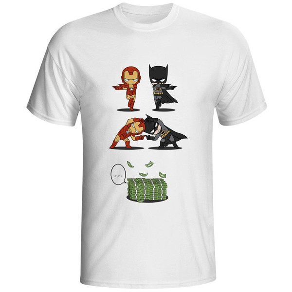Marvel manga curta Marca T Shirt Super T-shirt Crossover herói Homem de Ferro fresco impressionante do projeto Cotton Grey Tee Top Masculino Tamanho S-3XL