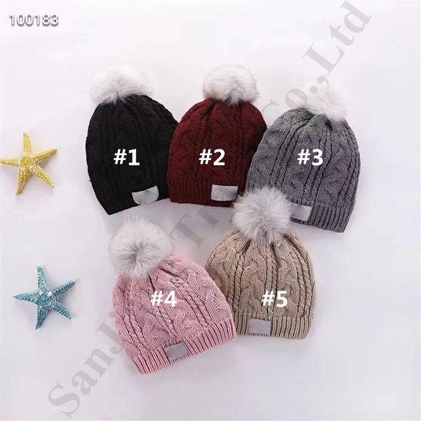 Las mujeres sombrero de invierno de lujo Piel real bola de ganchillo gorros de lana Australia UG caliente lana forrada de Pom Pom Beanie cable Knited de esquí al aire libre del casquillo LC110502