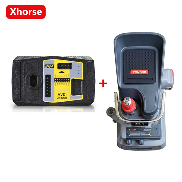 Xhorse Condor XC-002 Ikeycutter Manually Key Cutting Machine Plus Xhorse V4.8.0 VVDI MB BGA TooL For Benz Key Programmer