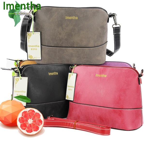 Fabrika satış kadın Çanta Bağbozumu omuz çantası kadın Kabuk Nubuk Deri Küçük Kadınlar için Crossbody Çanta Messenger