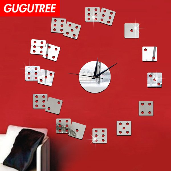 Decorate Home 3D number mirror clock art wall sticker decoration Decals mural painting Removable Decor Wallpaper G-34