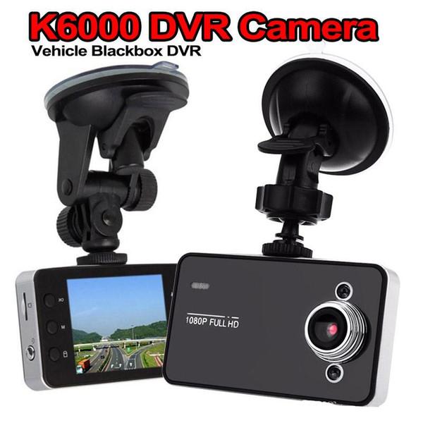 K6000 Carro DVR HD 2.7 '' LCD de Viagem / Condução / Gravador de Dados de Alta velocidade / Veículo Filmadora Com Ângulo de Visão de 90 Graus Preto