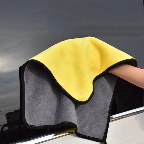1pc Car Care Wash Polissage serviettes moelleuses serviettes en microfibre lavage séchage fort épais en peluche fibre de polyester Tissu de nettoyage de voiture