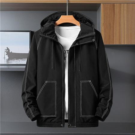 Marka Yüksek Kalite Uzun Kollu 2019 Yeni Tasarımcı Erkek Moda Gevşek Rüzgarlık ve Doğal Renkler ile Spor Ceket için Boyut L-5XL QSL198281