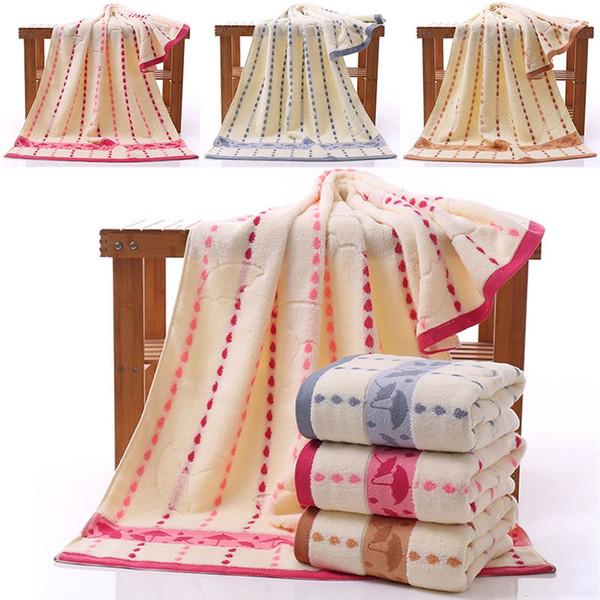 Asciugamano da bagno in cotone goccia di pioggia in fibra di bambù Asciugamano piccolo asciugamano morbido addensato Assorbimento d'acqua Asciugamano viso Tessuti 3 colori AN2004
