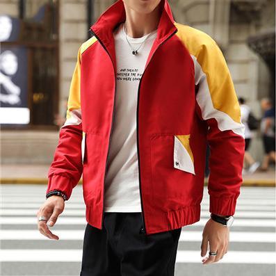 Venta al por mayor para hombre diseñador rompevientos manga larga cremallera chaquetas abrigo patchwork moda deportes activo gimnasio corriendo abrigos primavera otoño B100002L