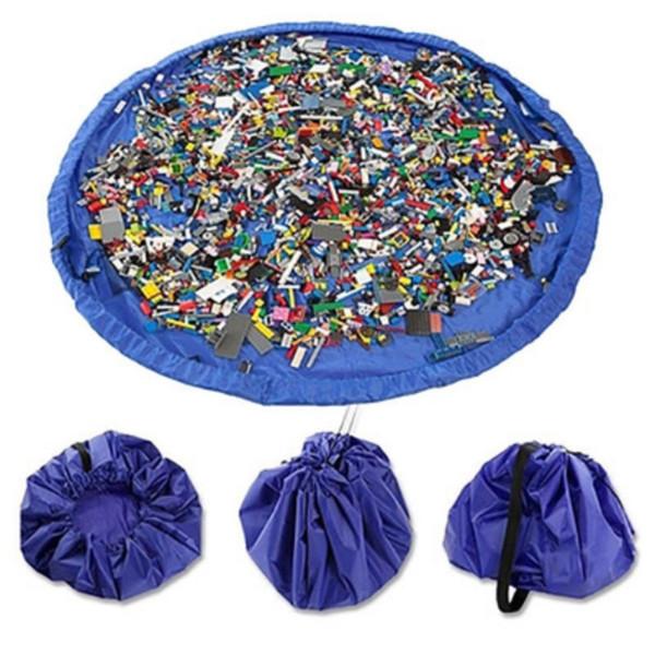 Kids Children Baby Play Mat Rug Carpet Bath Toy Storage Bag Box Organizer Basket Large Capacity Blanket Boxs Playing Toys