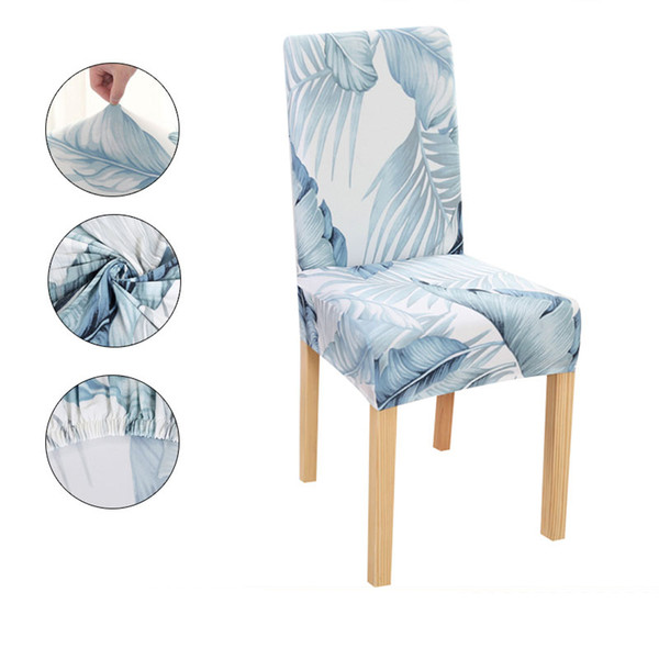Spandex Chair Cover Leaves Fabric Chair Covers For Dining Room Chairs Modern Chair Cover