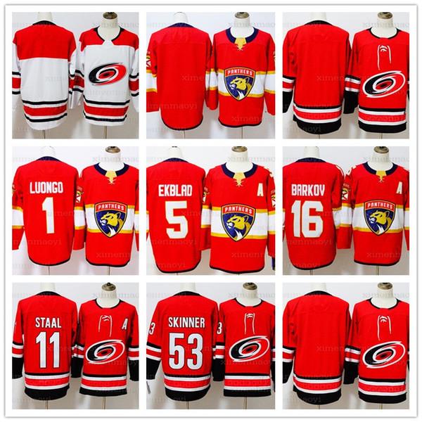 size 40 b4809 65632 2019 Men'S Carolina Hurricanes 11 Staal 53 Jeff Skinner Florida Panthers 1  Roberto Luongo 5 Aaron Ekblad 16 Aleksander Barkov Hockey Jerseys From ...