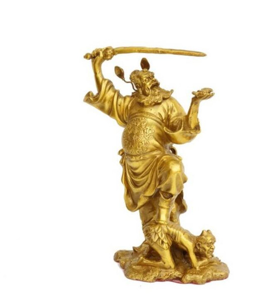 Pure copper Zhong Kui ornaments Zhong Kui statue of Buddha carved bronze statue characters