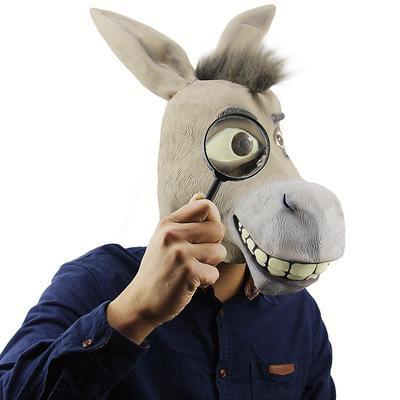 Komik hayvanlar canlı eşek kafa shrek dış ticaret endüstrisi kaprisli lateks maskeleri