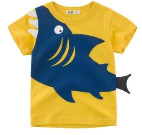 #1 Shark Printed Boys T Shirt