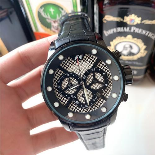 Relogio masculino 45mm military sports style large men's watch 2019 luxury fashion designer black dial unique belt big male clock
