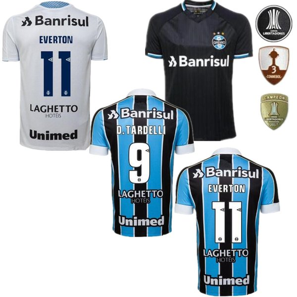2019 Gremio Paulista Camisolas de Futebol 18 19 20 Gilchmei Melhor Grêmio Johnath MILLER Camisa de Futebol LUAN Marlone Azevedo da Silva