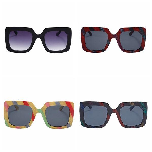 Moda feminina Estilo Coreano Unisex óculos de sol mulheres Quadrado Quadro PC Lens Frame óculos de sol 4 estilos 1608 gafas de sol mujer 2019