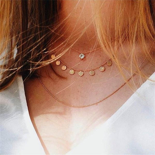 Gold color Choker Necklace for women Short crystal stars Pendant Chain Necklaces & Pendants Laces velvet chokers Fashion Jewelry ALXY04