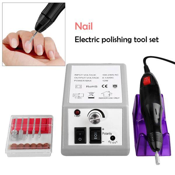 10W Nail Drill Machine 110V/220V Electric E File Acrylic Gel Nail Grinder Tool Art File 6 Bits Manicure Separator EU Plug #S