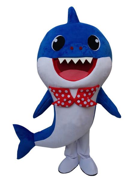Tubarão papai traje da mascote e mãe tubarão mascote ocstume vestido extravagante para animal adulto vestido de festa de Halloween evento