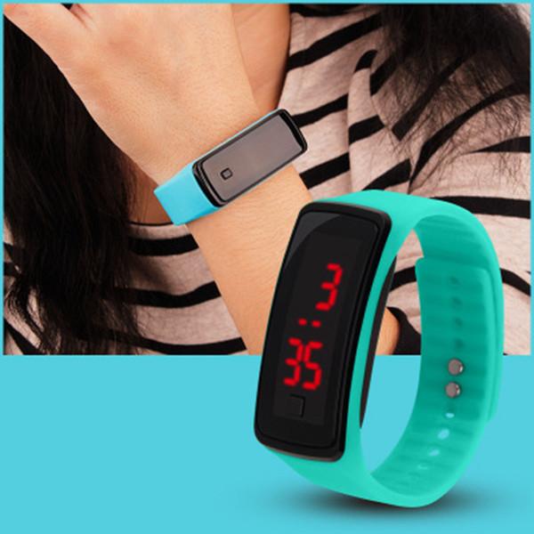 Mode Sport LED Uhren Candy Jelly Männer Frauen Silikon Gummi Touchscreen Digitaluhren Armband Armbanduhr ZZA764