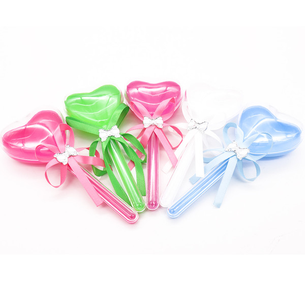 Beutel 12pcs romantische transparente Süßigkeit-Plastikkasten-Verpackentasche Partei-Hochzeits-Babyparty-Geburtstags-Valentinsgruß bevorzugt Kindergeschenk