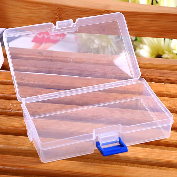 Housekeeping Storage Boxes Plastic Clear Storage Box Small Box Bins for Jewelry Earrings Toys Container Free Shipping