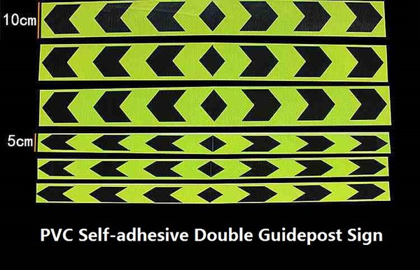 best selling 10CM*45M Road Traffic Van Truck Construction Site Corridor Factory Workshop Floor Double Guide Self-adhesive PVC Warning Safety Tape