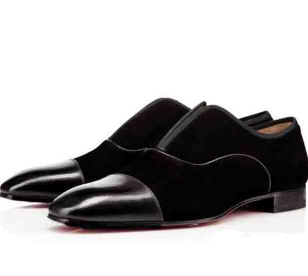 Black Men Wedding Party Shoes Oxfords Men Bussiness Shoes Flat Red Bottom Designer Alpha Male P Strass Flat Low Heels Men Casual Shoes