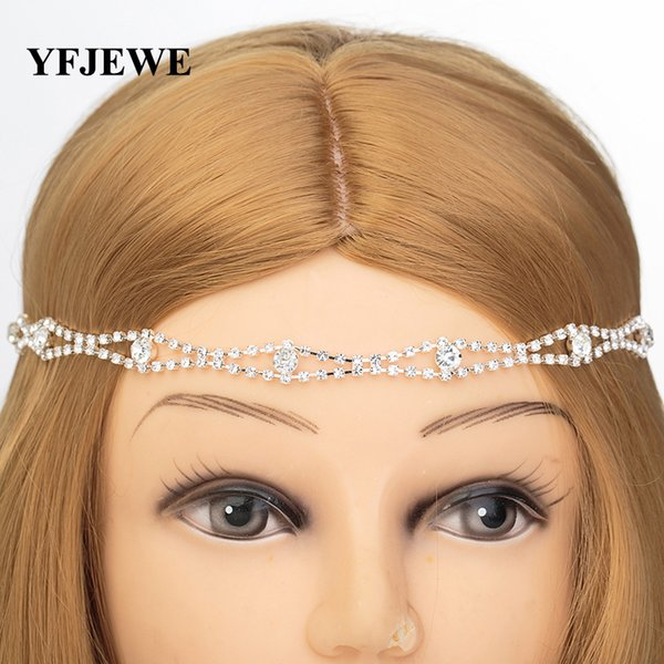 New Design Wedding Party Hair Accessories Crystal Chain Charms Head Bands Women Jewelry Wedding Bridal Hair Jewelry H013