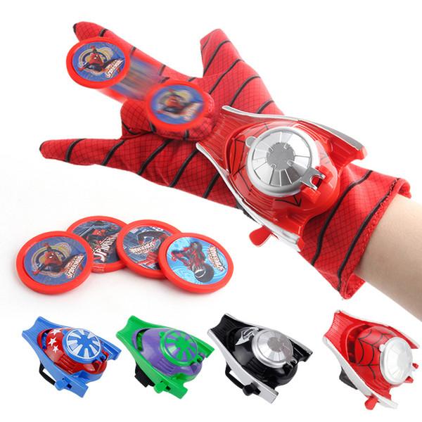 Оптовая Косплей Marvel Мстители Super Heroes Перчатки Лаучер Человек-Паук Ironman Один Размер Перчатки Gants Реквизит Рождественский Подарок для малыша игрушки